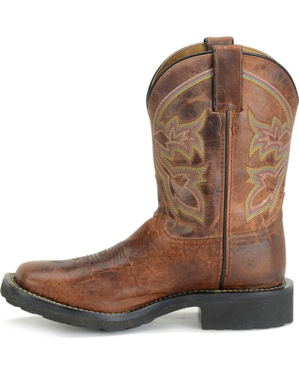 "Double H Women's 9"" Super-Lite Western Boots, Brown, hi-res"