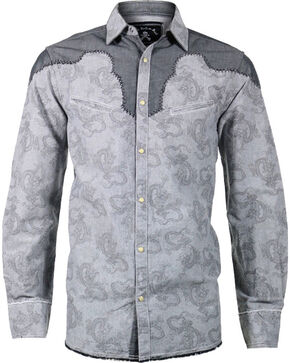 Rock Roll n Soul Men's Play It Safe Long Sleeve Shirt, Grey, hi-res