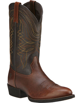 Ariat Men's Comeback Western Boots, Brown, hi-res
