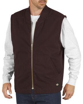 Dickies Men's Quilt Lined Sanded Duck Vest - 3XL, Brown, hi-res