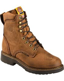 "Justin Men's Original 8"" Lace-Up Work Boots, , hi-res"