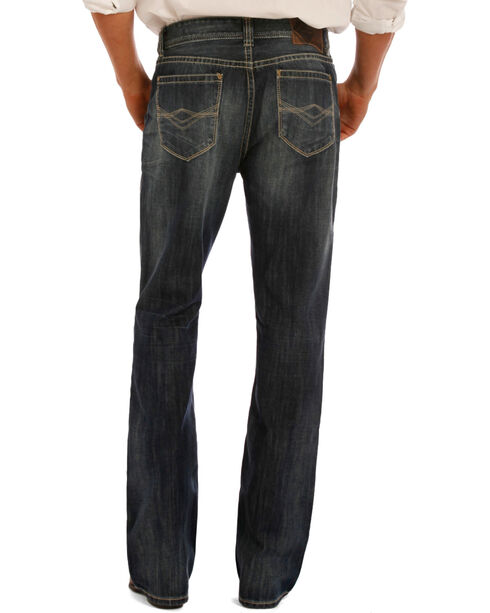 Rock & Roll Cowboy Men's Double Barrel Relaxed Fit Boot Cut Jeans, Indigo, hi-res