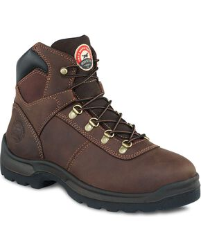 Irish Setter by Red Wing Shoes Men's Setter Ely Hiker Work Boots - Round Toe, Brown, hi-res