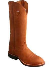 Twisted X Men's Buckaroo Oiled Suede Western Boots, Tan, hi-res