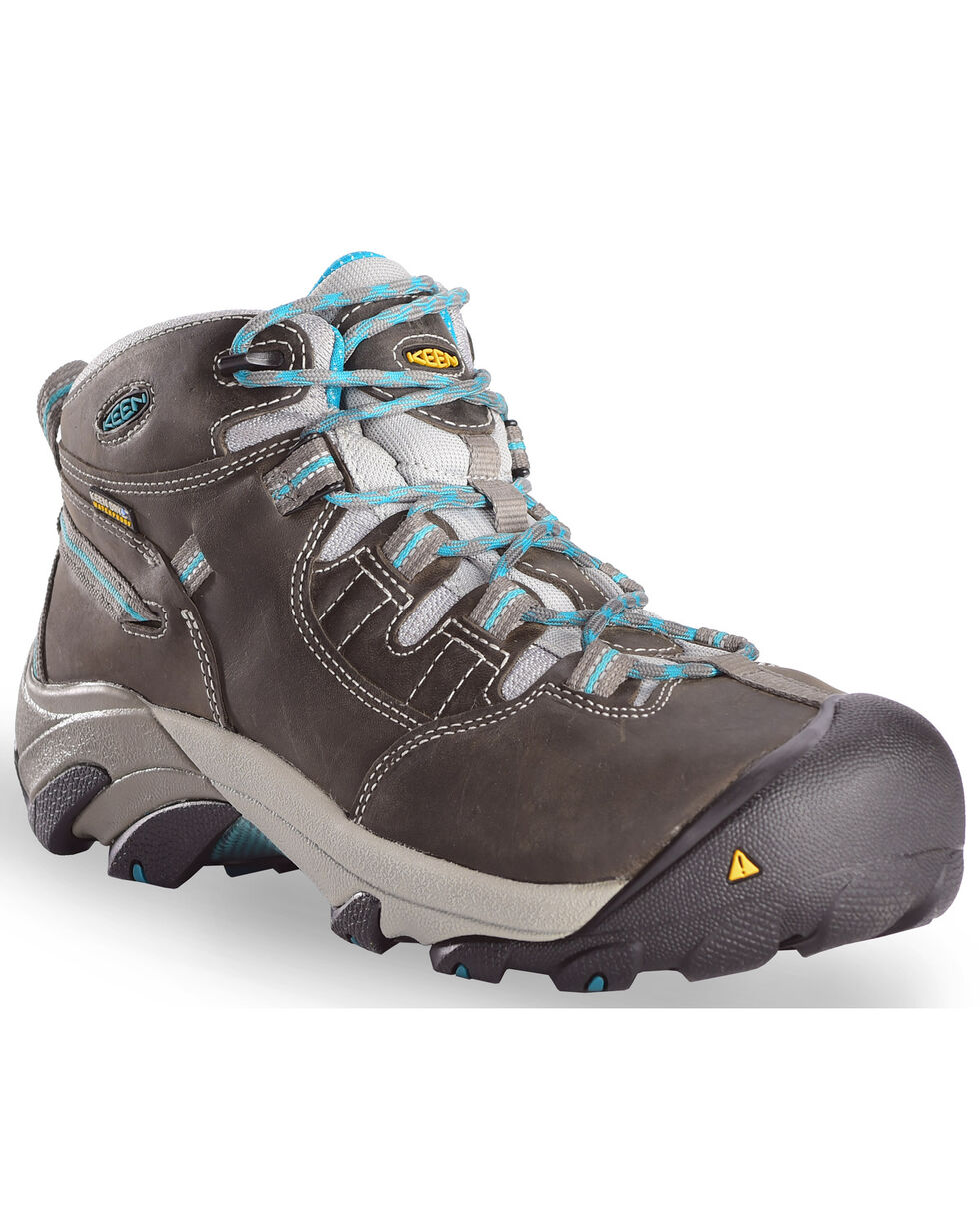 Keen Women's Detroit Mid Boots, Green, hi-res