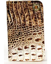 SouthLife Supply Men's Jackson Cream Croc Embossed Multi Pocket Wallet, , hi-res