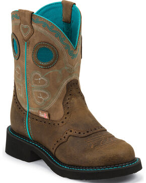 Justin Women's Gypsy Western Boots, Tan, hi-res