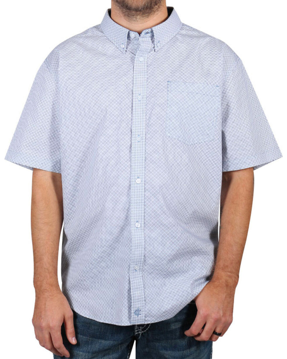 Cody James® Men's Button Down Short Sleeve Shirt , White, hi-res