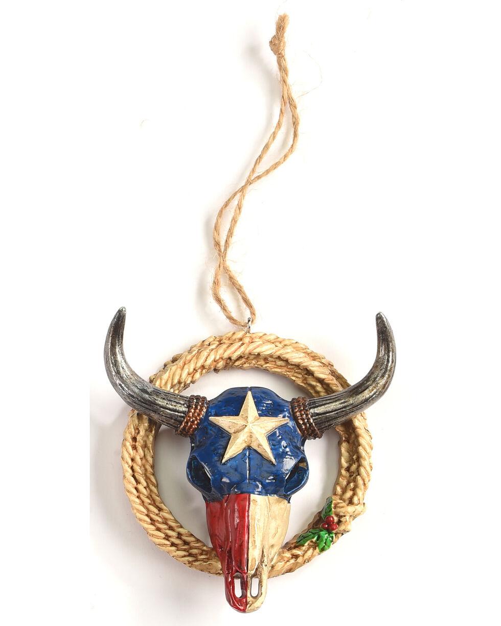 BB Ranch Texas Bullhorns Ornament     , No Color, hi-res
