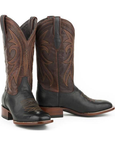 Stetson Men's Sheridan Calf Western Boots, Black, hi-res