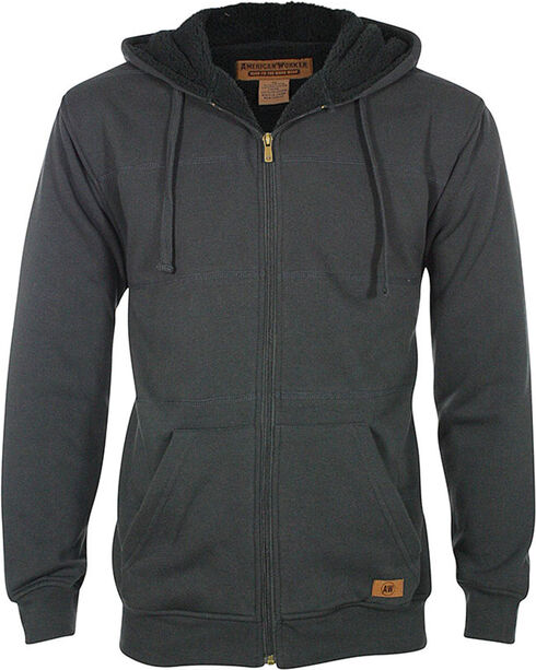 American Worker® Men's Jackrabbit Hoodie, Charcoal, hi-res