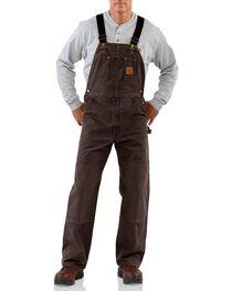 Carhartt Men's Sandstone Bib Overalls, , hi-res
