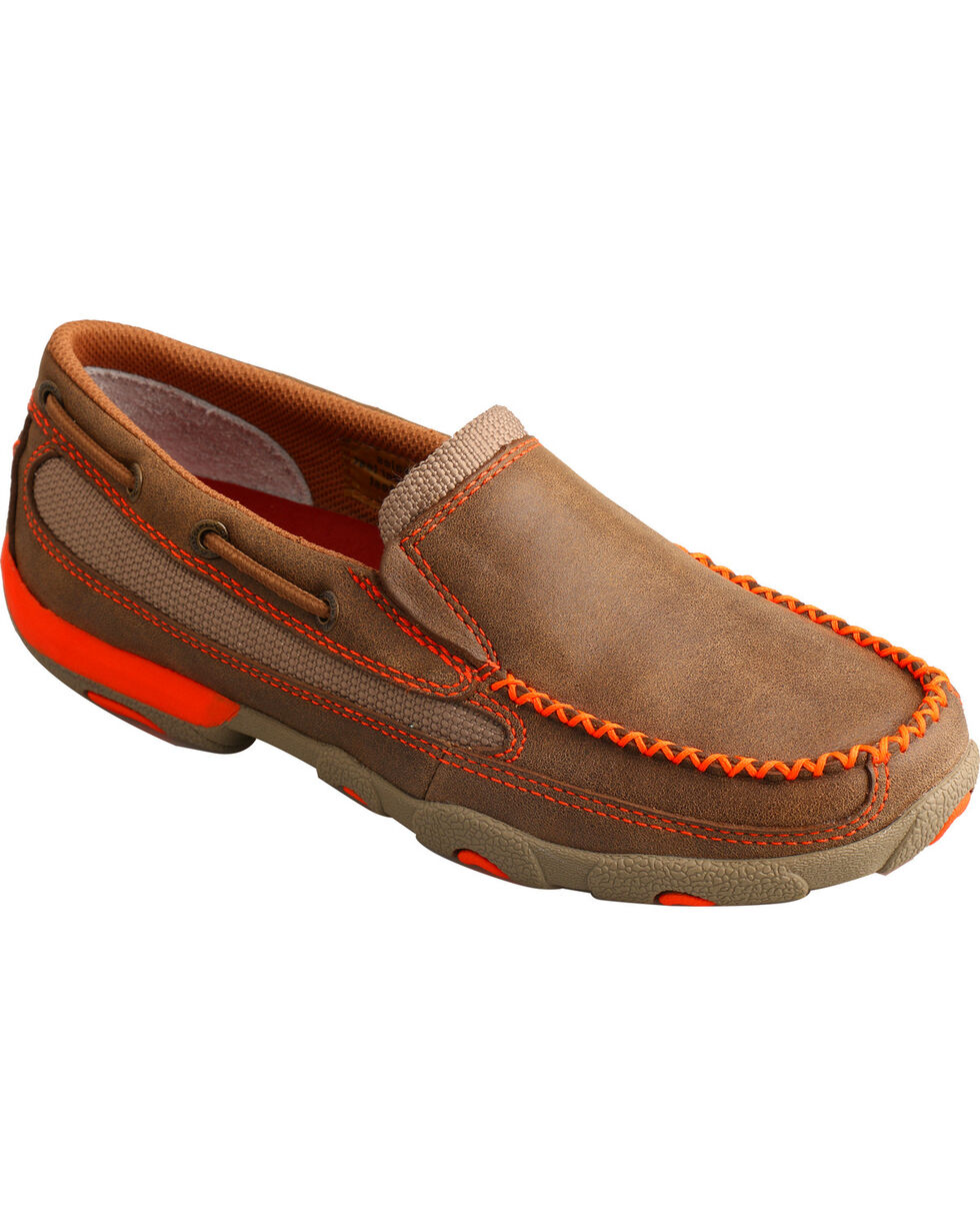 Twisted X Women's Colored Driving Mocs, Brown, hi-res