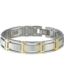 Sabona Men's Executive Symmetry Duet Magnetic Bracelet, , hi-res