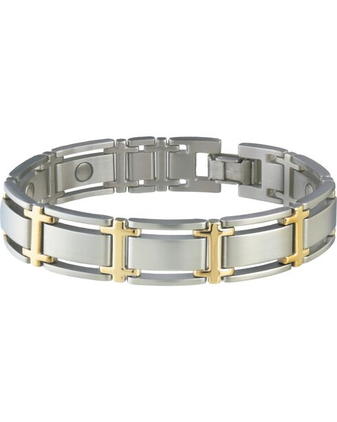 Sabona Men's Executive Symmetry Duet Magnetic Bracelet, Silver, hi-res