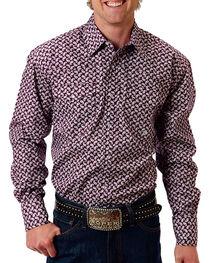 Roper Men's Mini Paisley Long Sleeve Shirt, , hi-res