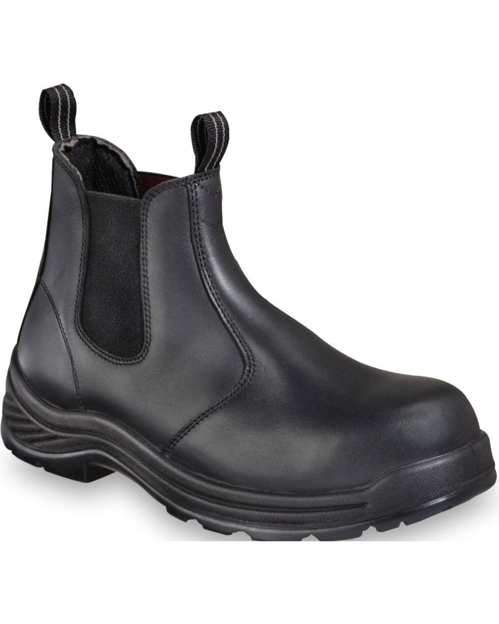 "Thorogood Men's 6"" Quick Release Station Boots - Composite Toe, Black, hi-res"