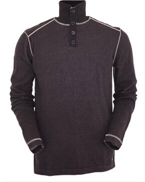 Outback Trading Co. Men's Brown Cooper Henley , Brown, hi-res