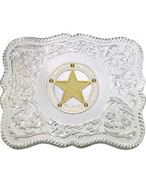 Montana Silversmiths Scalloped Sheriff Star Belt Buckle, , hi-res
