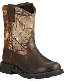 Ariat Kid's Brown Sierra Boots - Round Toe, , hi-res