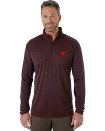 Wrangler Men's Black RIGGS WORKWEAR® 1/4 Zip Pullover, , hi-res