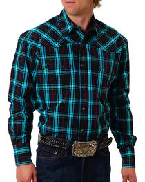 Roper Men's Check Patterned Long Sleeve Shirt, , hi-res
