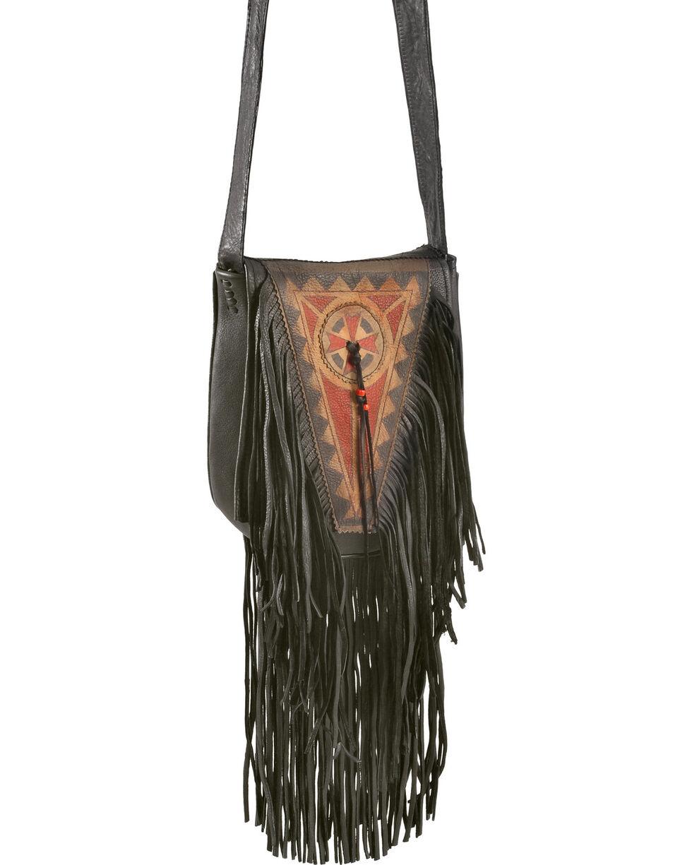 Kobler Leather Black Painted Handbag, Black, hi-res