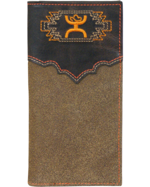HOOey Men's Aztec Bi-Fold Check Book Wallet, Multi, hi-res