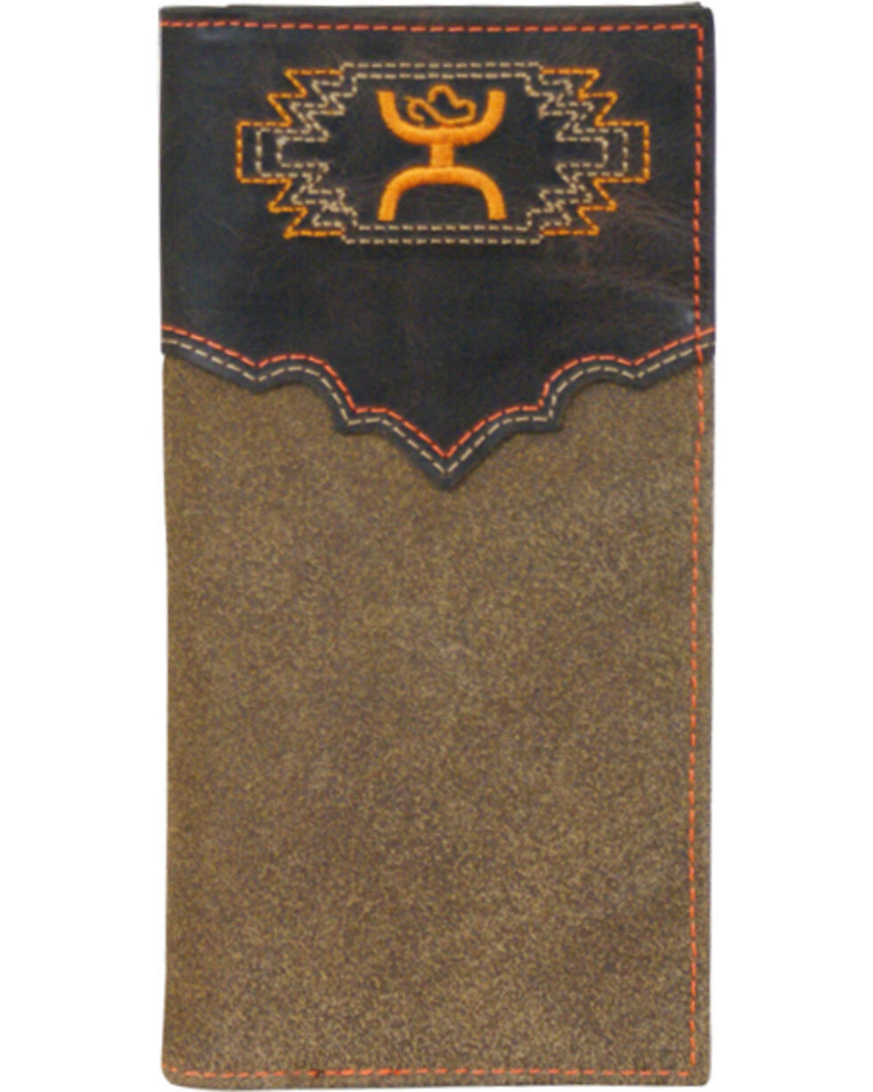 HOOey Men's Aztec Bi-Fold Check Book Wallet, Multi, hi-res