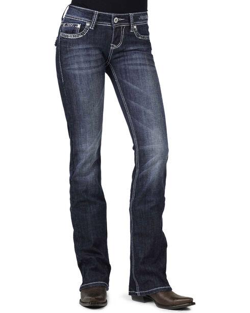Stetson Women's Contemporary Boot Cut Jeans, Denim, hi-res