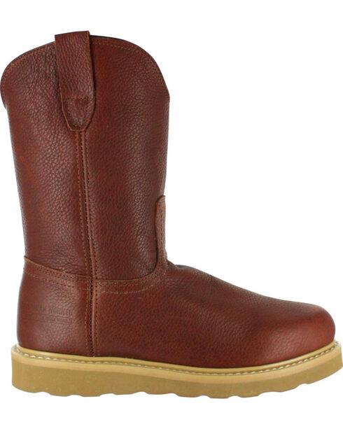 American Worker® Men's Round Toe Work Boots, Russett, hi-res