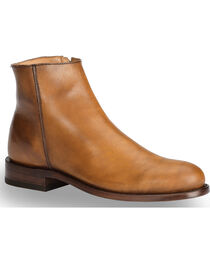 El Dorado Men's Tan Leather Zipper Urban Roper Boots - Round Toe, , hi-res