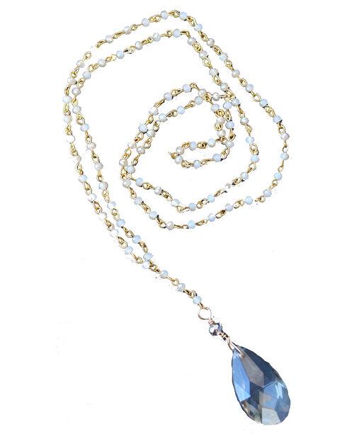 2 Queen B's Women's Jasmine Dust Crystal Chain Necklace, Ivory, hi-res