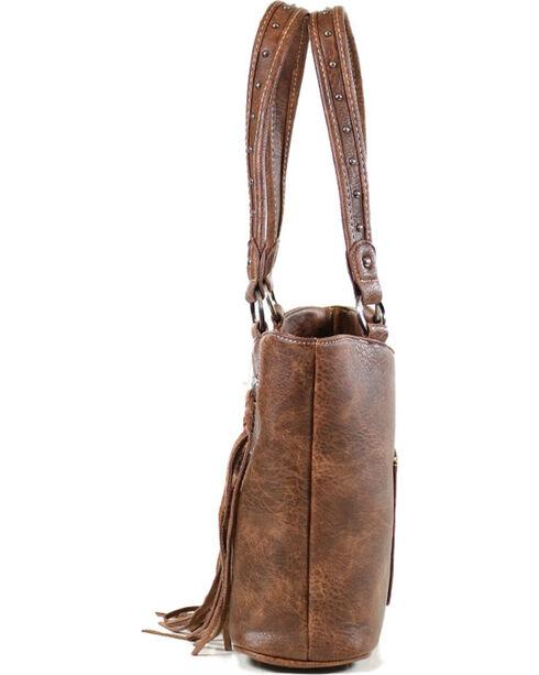 Trinity Ranch Women's Fringe Concealed Carry Shoulder Bag, Taupe, hi-res