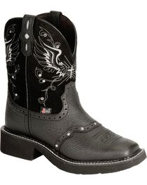 "Justin Women's 8"" Gypsy Cross And Wings Western Boots, , hi-res"
