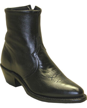 "Sage Boots by Abilene Men's 7"" Western Zip Boots, Black, hi-res"