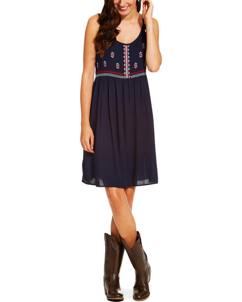 Ariat Women's Susie Dress, Navy, hi-res