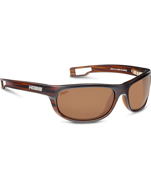 Hobie Men's Copper and Satin Brown Cruz-R Polarized Sunglasses , Brown, hi-res