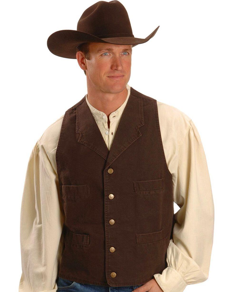 Scully Men's Range Wear Frontier Vest, Walnut, hi-res