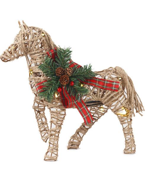 BB Ranch LED Burlap Horse Décor- Medium, Multi, hi-res