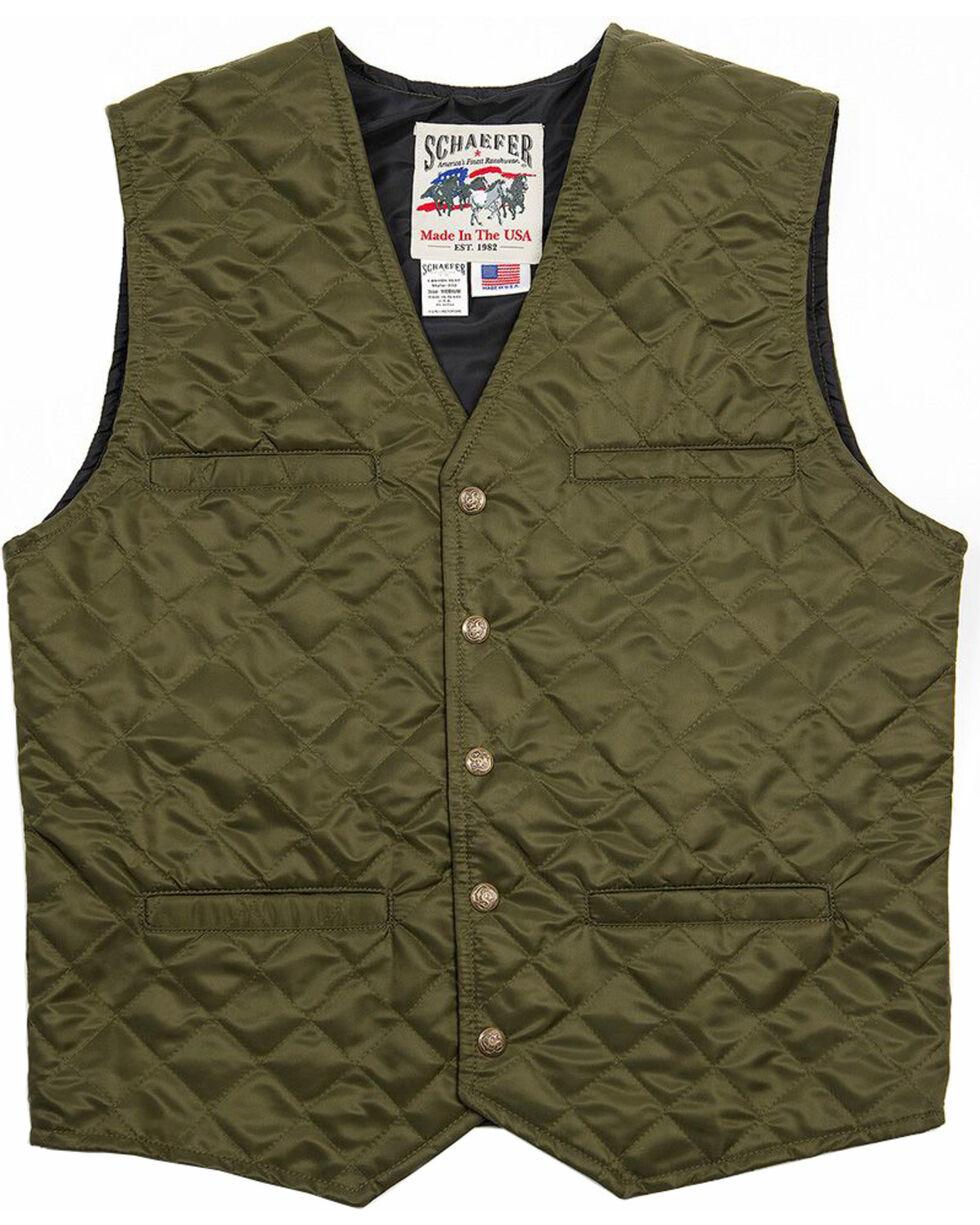 Schaefer Outfitter Men's Olive Canyon Vest , Olive, hi-res