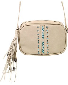 Shyanne Women's Embroidered Crossbody Bag, Ivory, hi-res