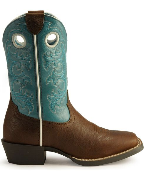 """Ariat Youth Crossfire 8"""" Western Boots, Brown, hi-res"""