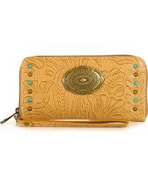 Waywest Women's Floral Tooled Wallet, , hi-res