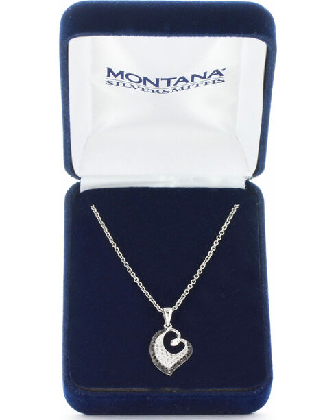 Montana Silversmiths Women's Dancing Hearts Necklace , Silver, hi-res
