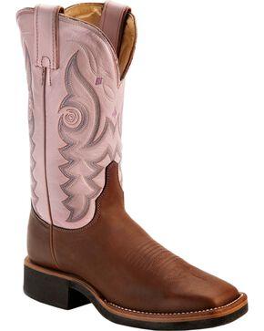"Justin Women's AQHA 11"" Western Boots, Brown, hi-res"