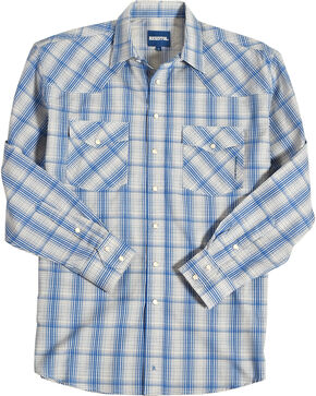 Resistol Men's Blue Jasper Snap Down Shirt , Blue, hi-res