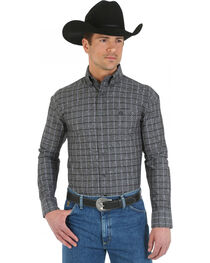 Wrangler George Strait Men's Overprint Long Sleeve Shirt, , hi-res