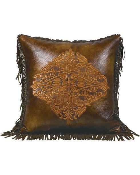 HiEnd Accents Austin Embroidered Design Pillow, Multi, hi-res