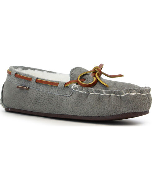 Lamo Footwear Women's Britain Moccasins, Grey, hi-res